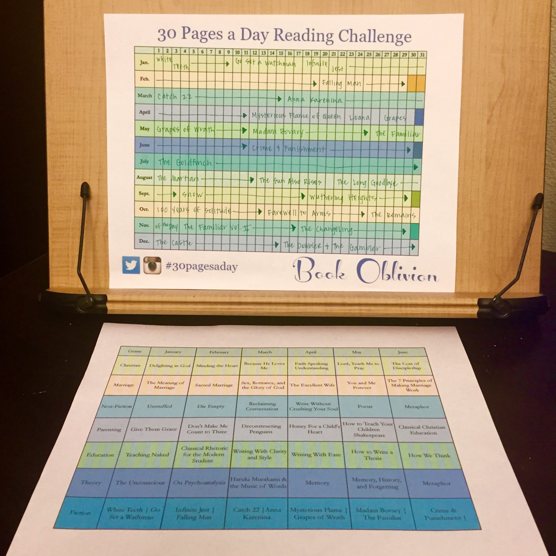 Super Nerdy Book Reading Schedule 30 Pages a Day