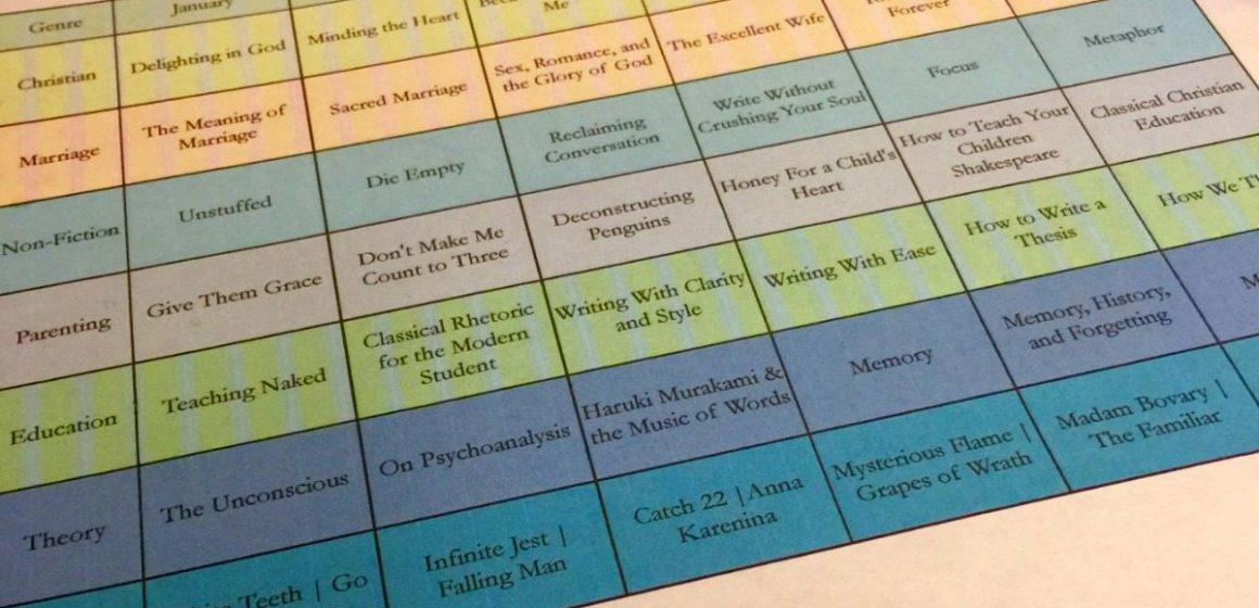 Super Nerdy Book Reading Schedule