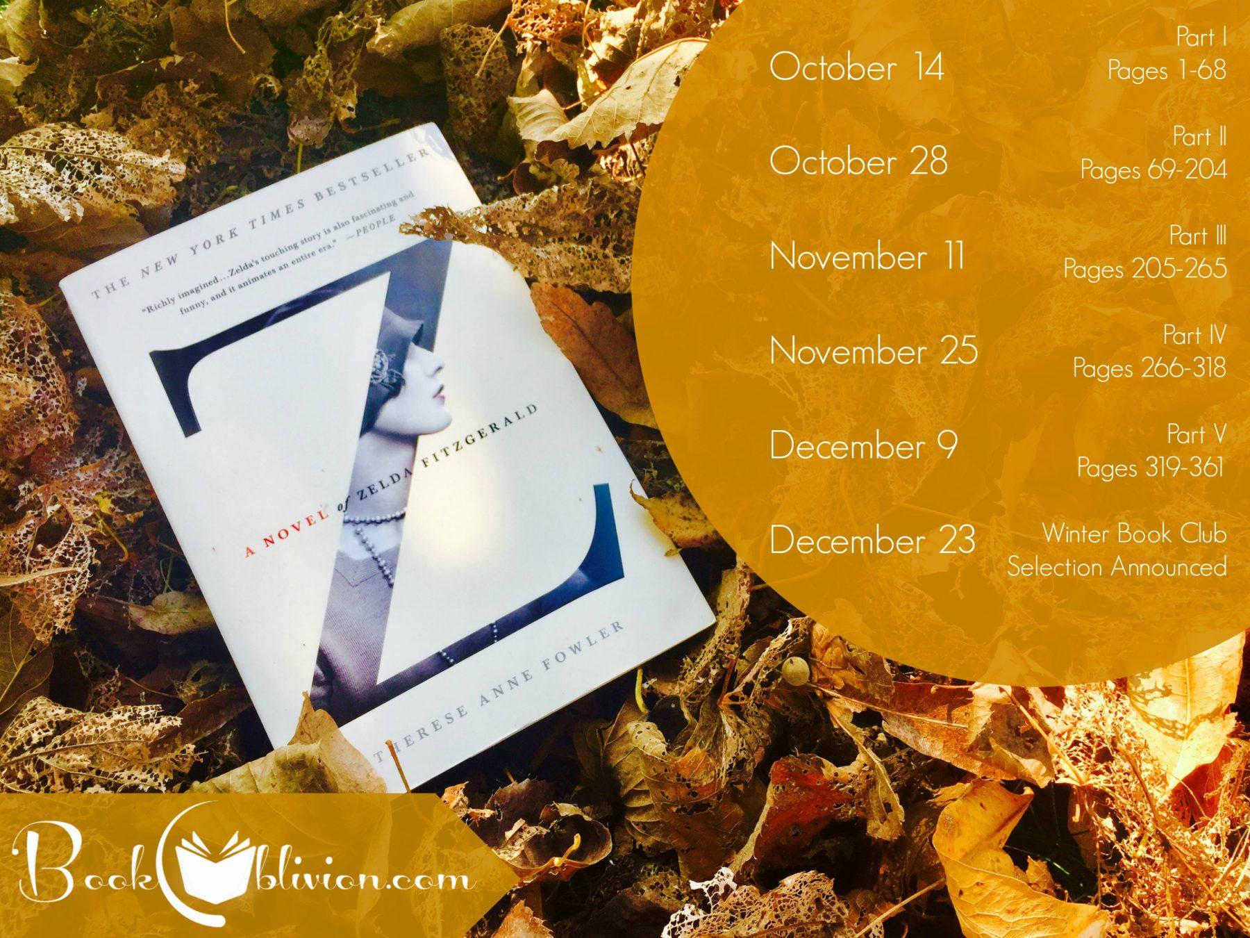Fall Book Club Reading Schedule