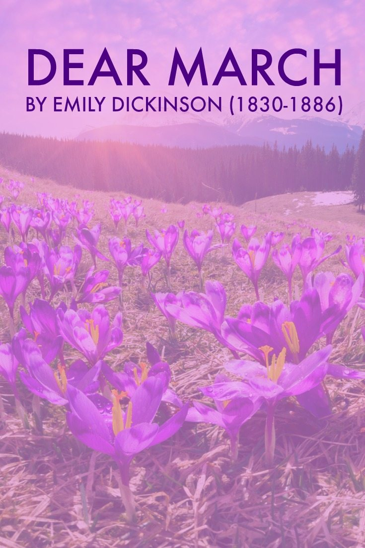 Dear March - Come In by Emily Dickinson