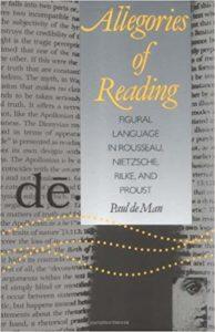 Paul de Man - Allegories of Reading